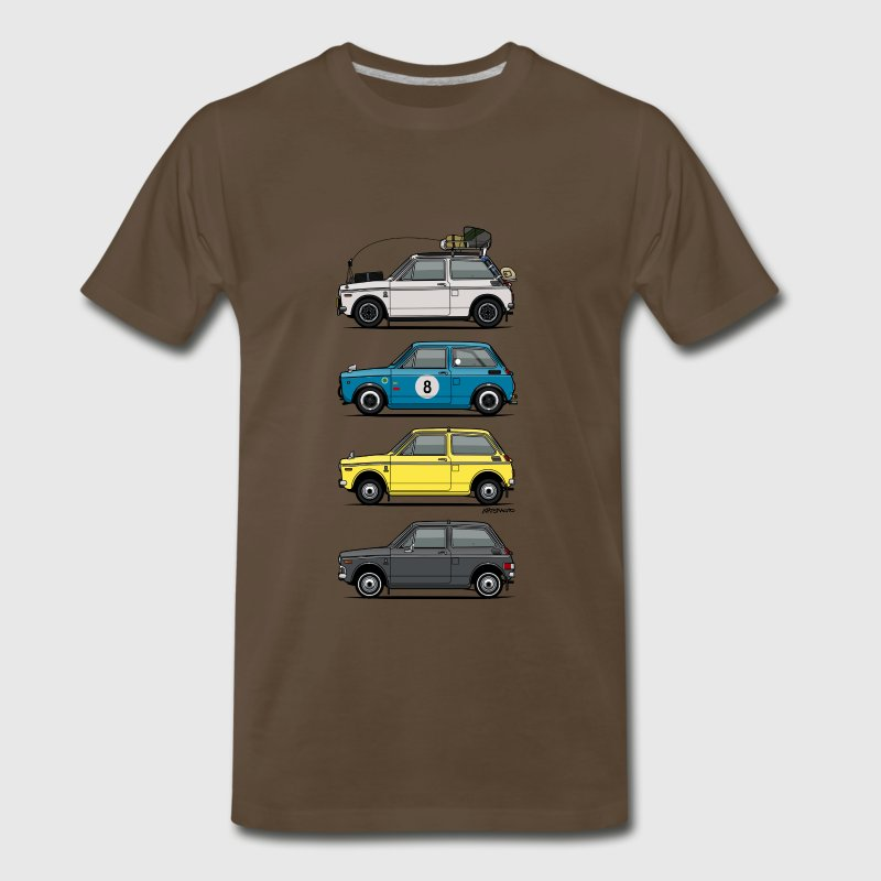 Stack of  Vintage Honda N360 N600 Kei Cars T-Shirts - Men's Premium T-Shirt