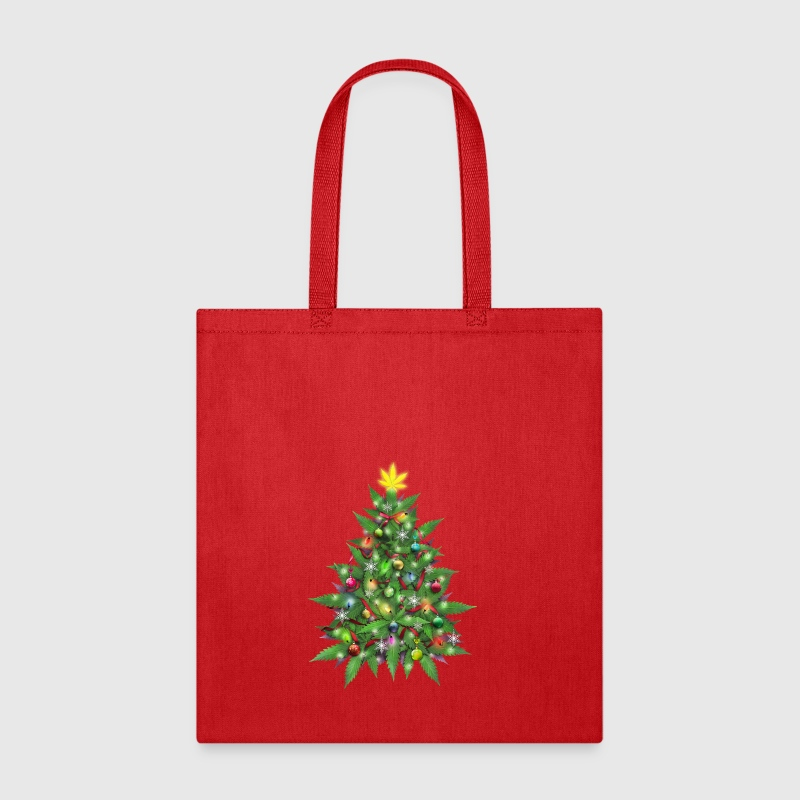 marijuana christmas tree tote bag spreadshirt - Christmas Tree Bags