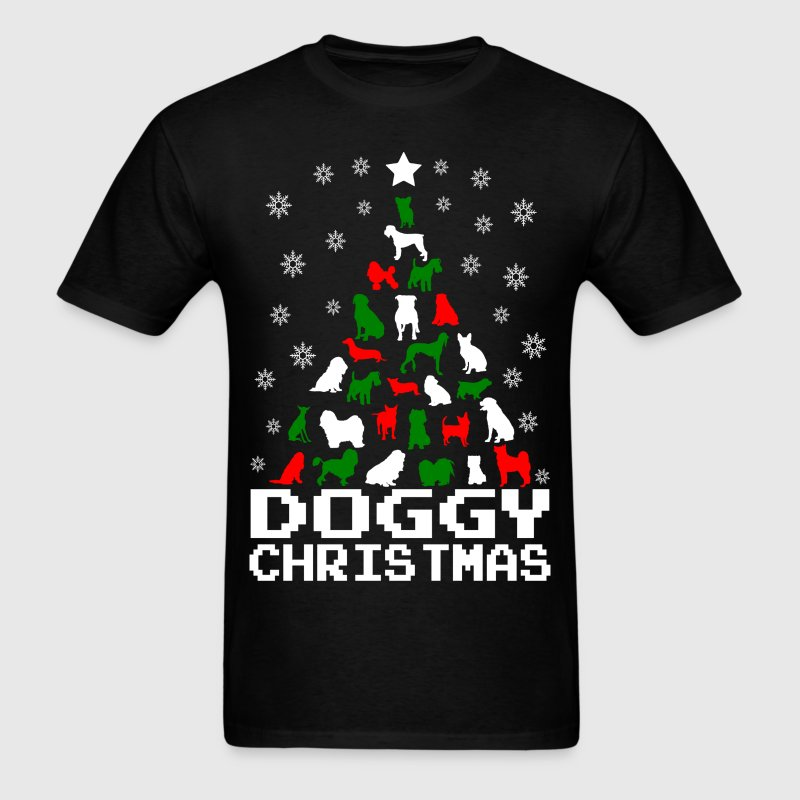 Doggy Christmas Tree T-Shirts - Men's T-Shirt