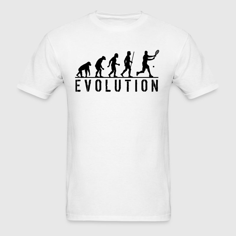 Evolution Tennis Funny T Shirt - Men's T-Shirt