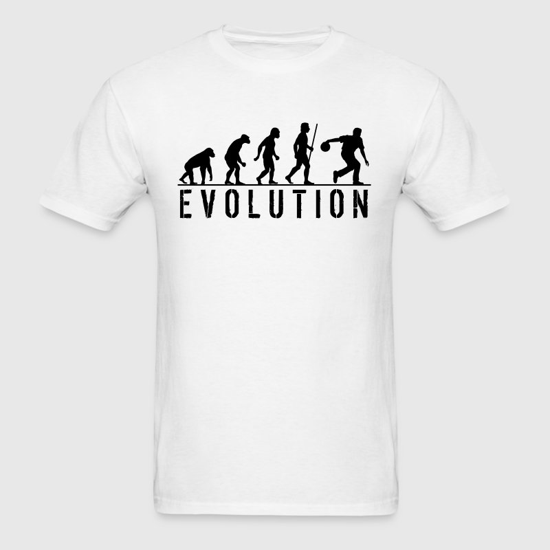 Bowling Evolution T Shirt - Men's T-Shirt