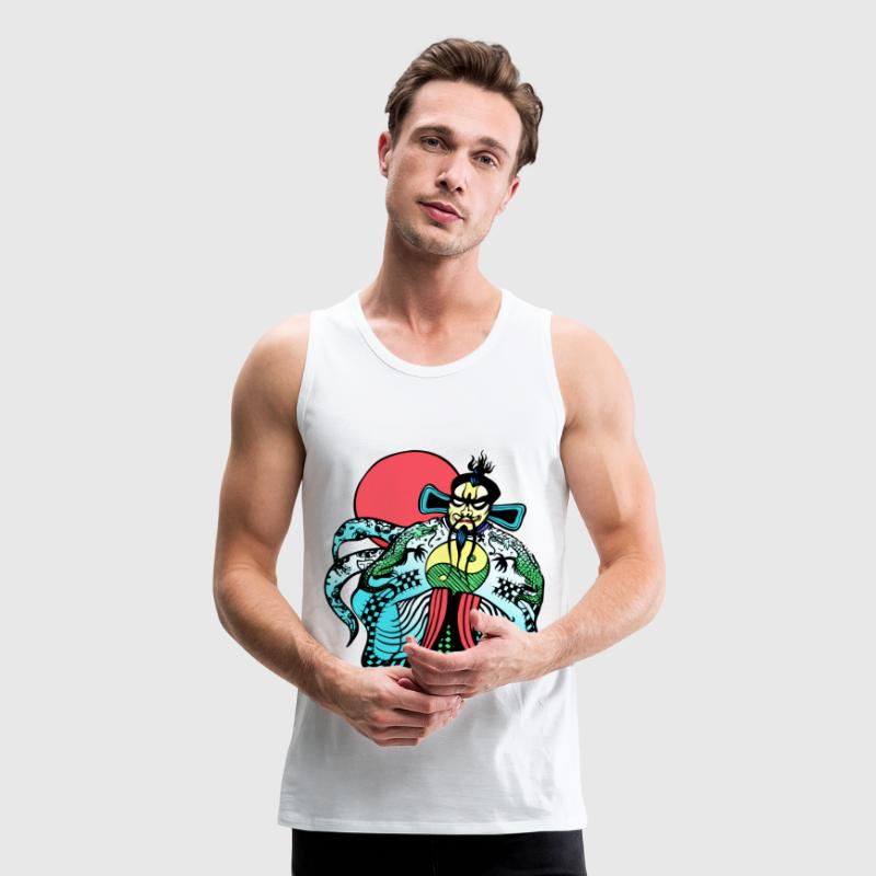 Big Trouble Little China Jack Burton's Fu Manchu Tank Tops - Men's Premium Tank