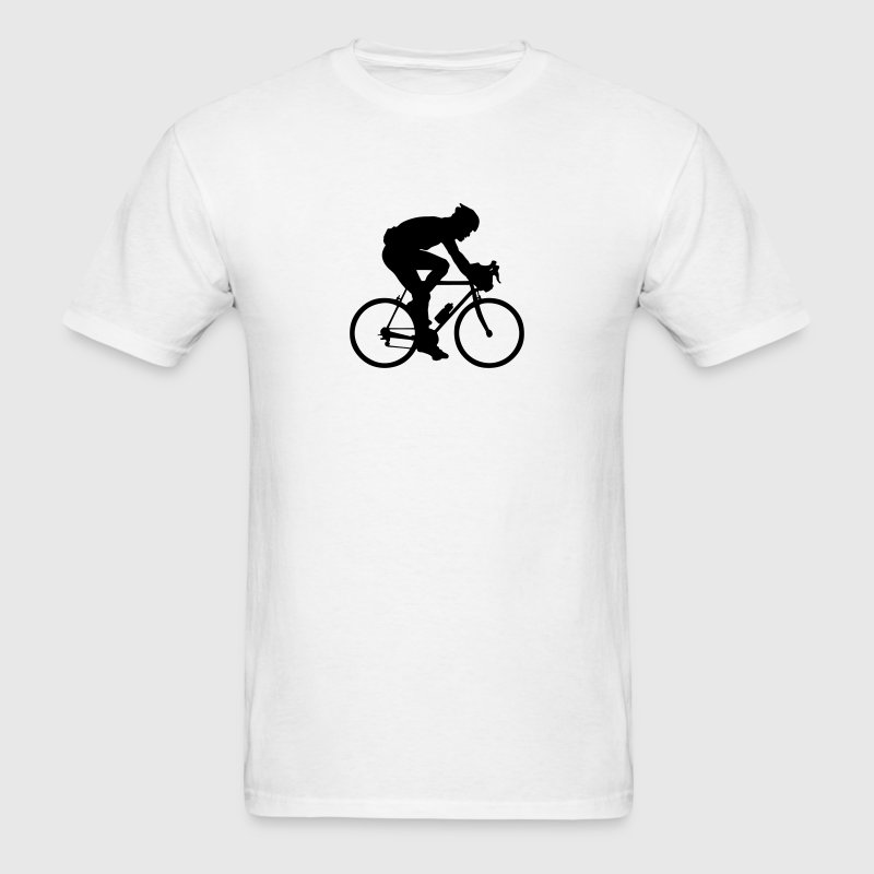 road race cyclist silhouette t-shirt - Men's T-Shirt