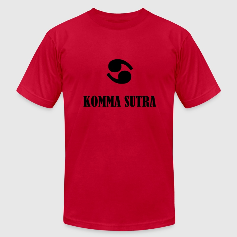 Komma Sutra T-Shirts - Men's T-Shirt by American Apparel