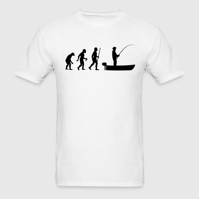Boat Fishing Evolution - Men's T-Shirt