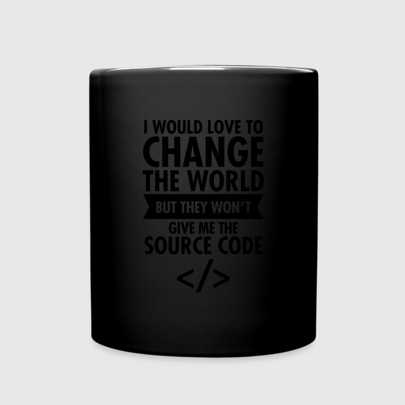 I Would Love To Change The World... Mugs & Drinkware - Full Color Mug