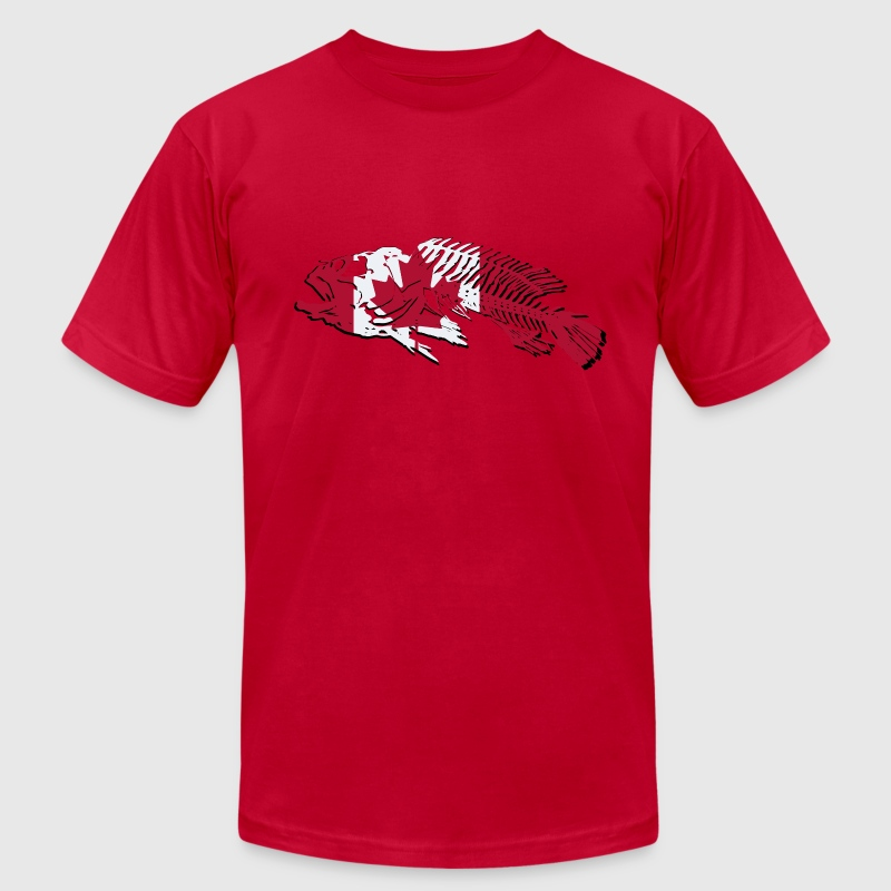Fish - Canada Flag T-Shirts - Men's T-Shirt by American Apparel
