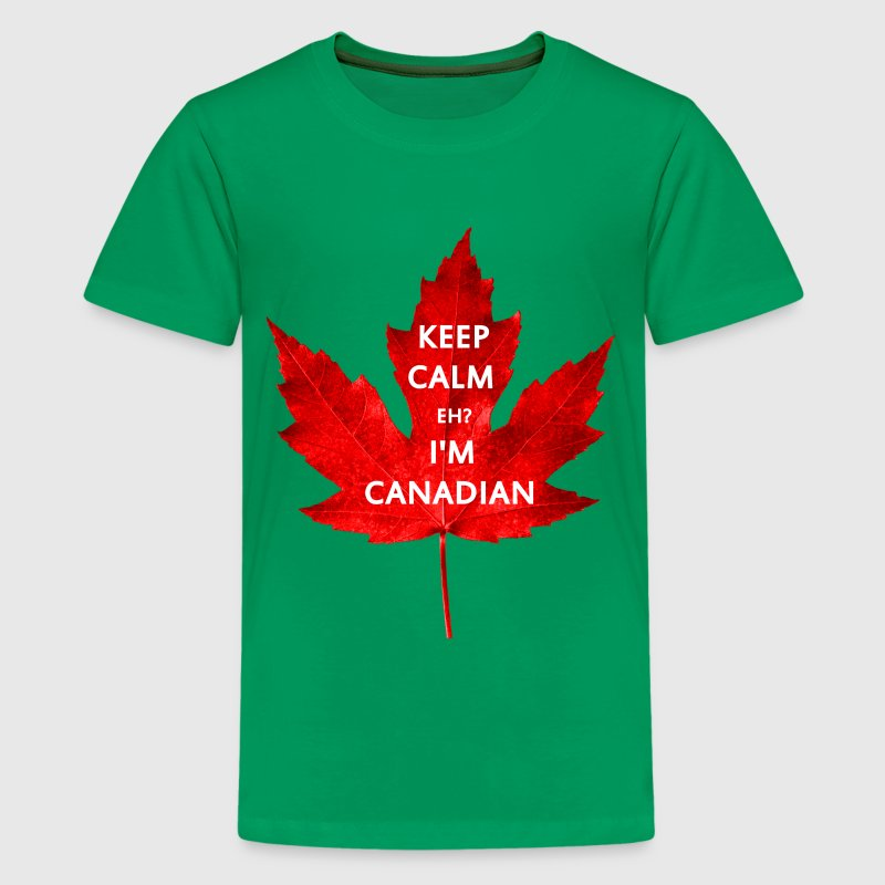 KEEP CALM EH I'M CANADIAN - Kids' Premium T-Shirt