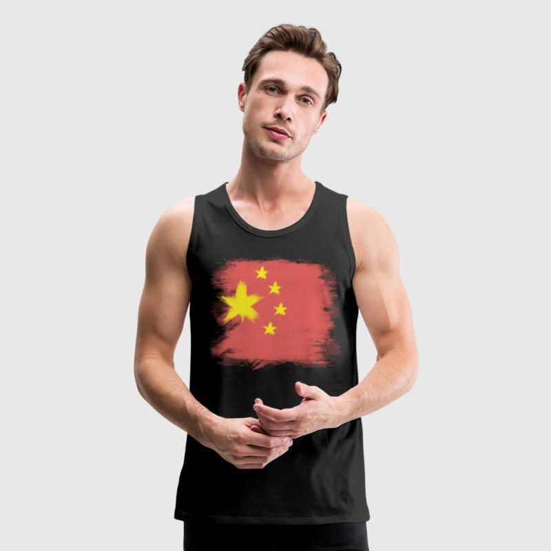 China Flag Chinese Tank Tops - Men's Premium Tank