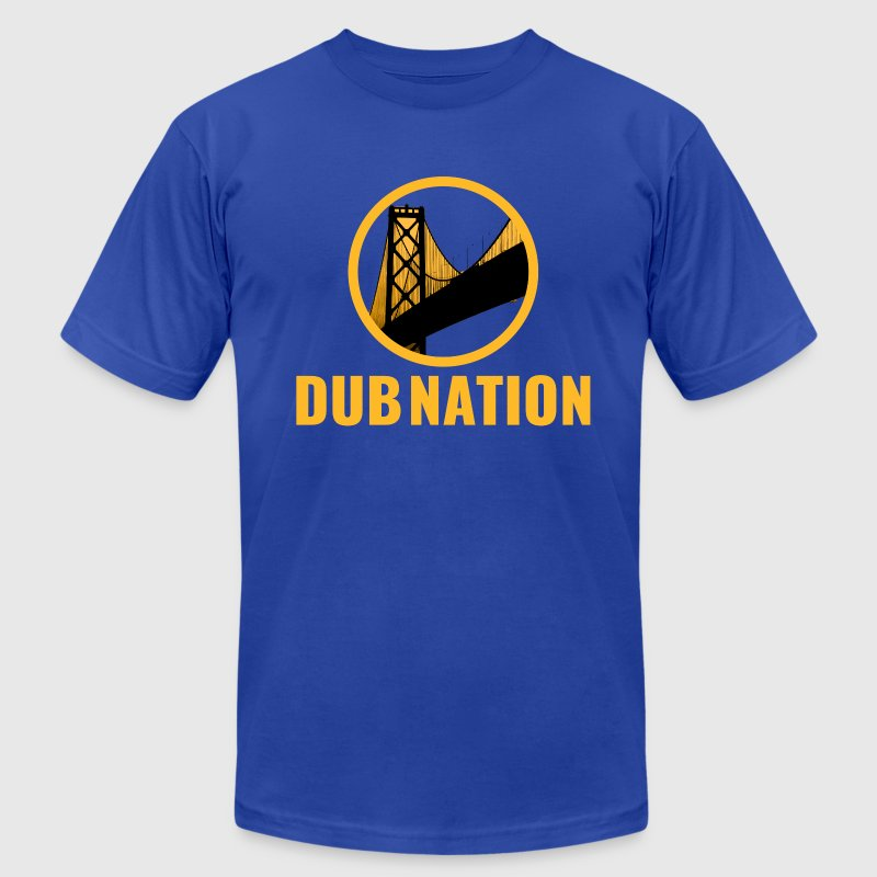 Dub Nation Bay Bridge - Men's T-Shirt by American Apparel