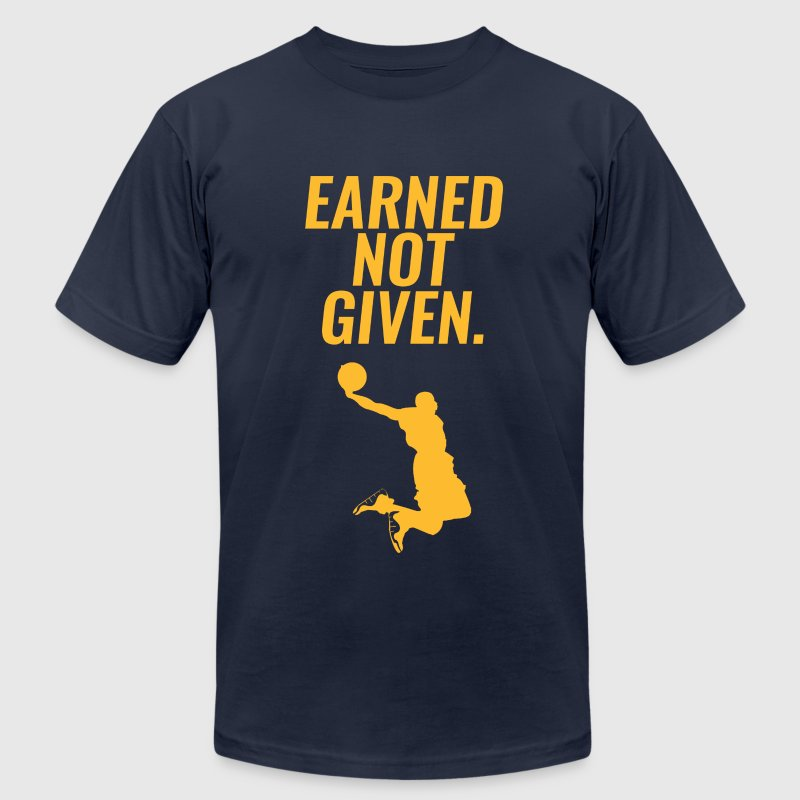Earned Not Given - Lebron James - Men's T-Shirt by American Apparel