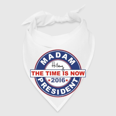 Hillary button Madam President 2016 circle - Bandana