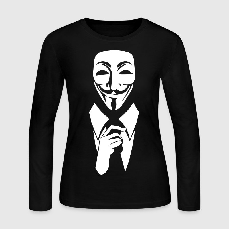 We are anonymous Long Sleeve Shirts - Women's Long Sleeve Jersey T-Shirt