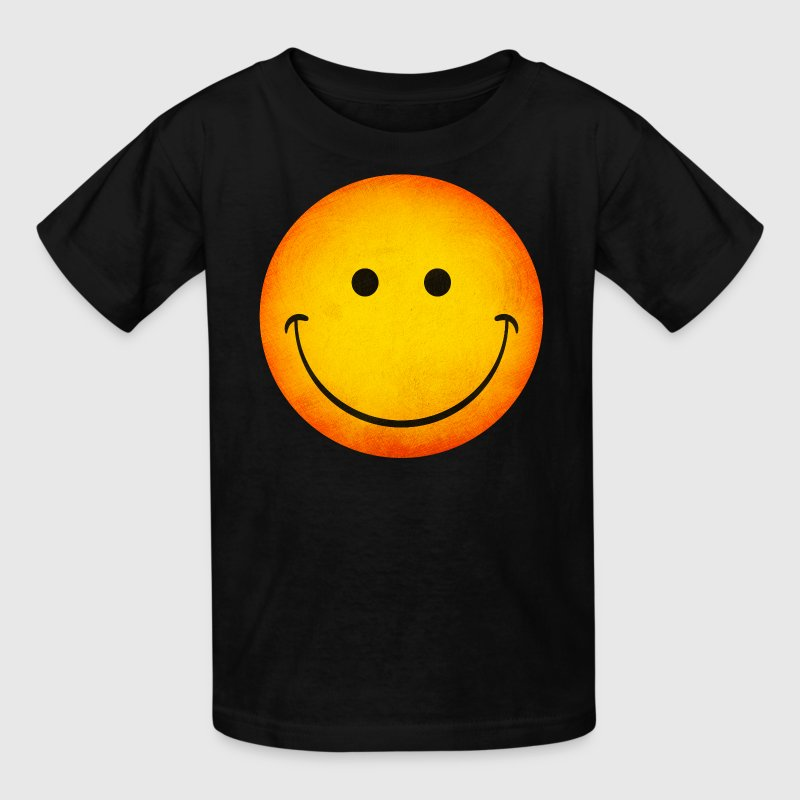 Smiling Emoji Face Kid's T-Shirt - Kids' T-Shirt