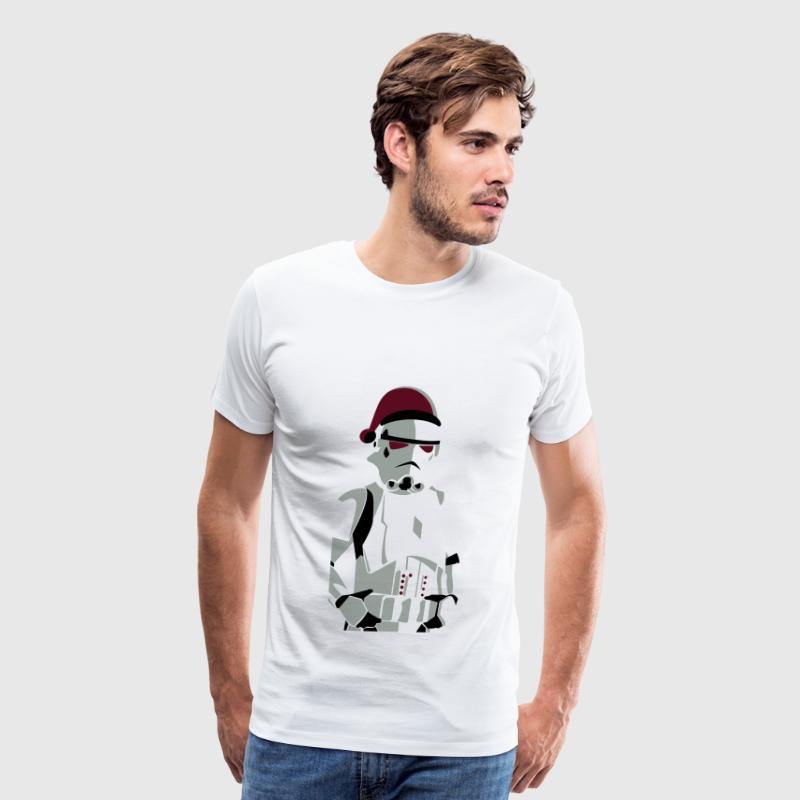merry christmas trooper vector - Men's Premium T-Shirt