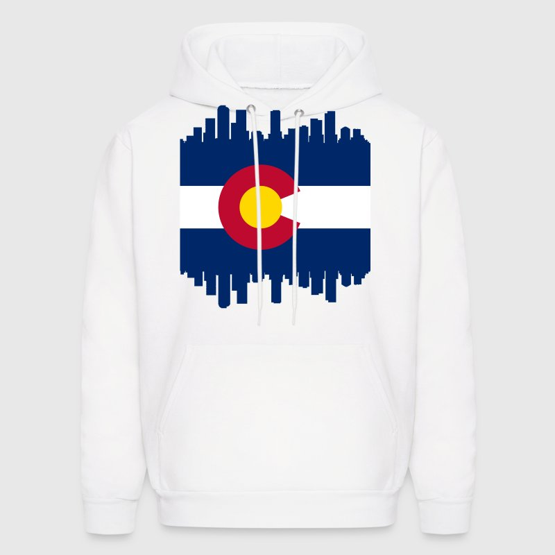 Colorful Colorado Skyline Flag Hoodies - Men's Hoodie