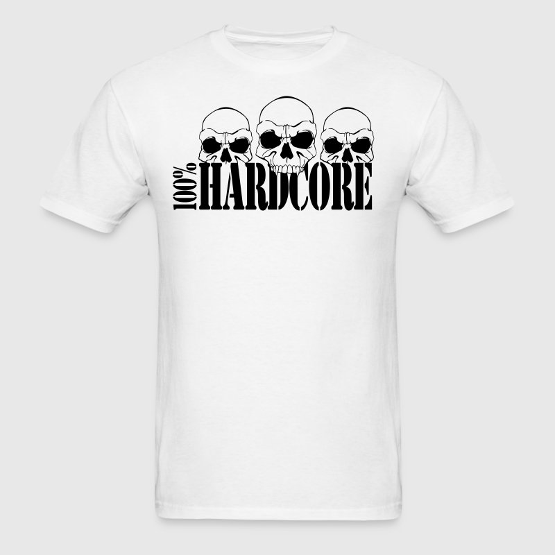 T-Shirt 100% Hardcore - Men's T-Shirt