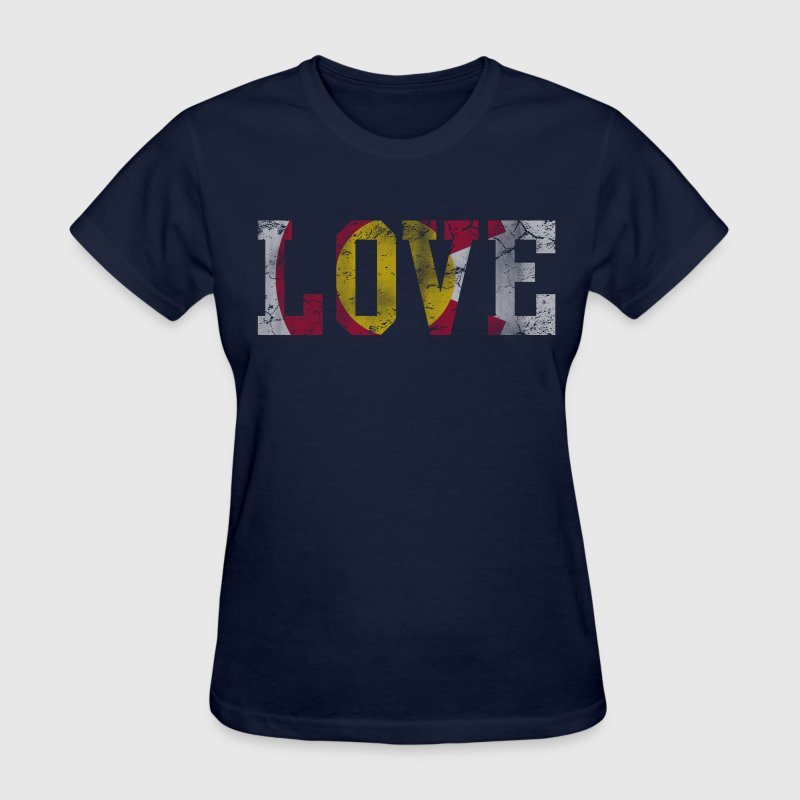 Colorado State Flag Love Vintage Flag Women's T-Shirts - Women's T-Shirt