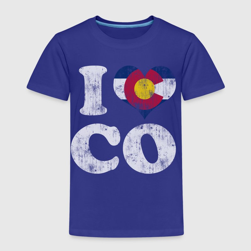 Popular I Heart Flag of Colorado Baby & Toddler Shirts - Toddler Premium T-Shirt