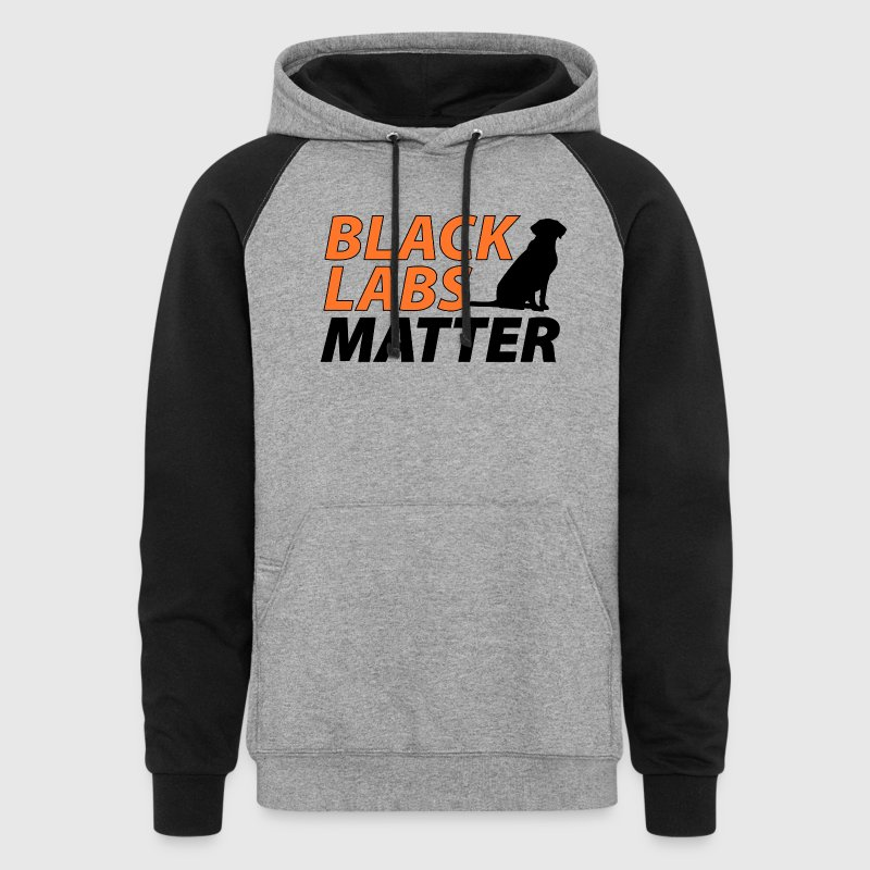 Black Labs Matter - Funny  - Colorblock Hoodie