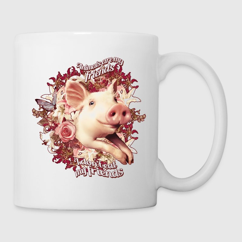 Animals are my friends and I don't eat my friends Mugs & Drinkware - Coffee/Tea Mug