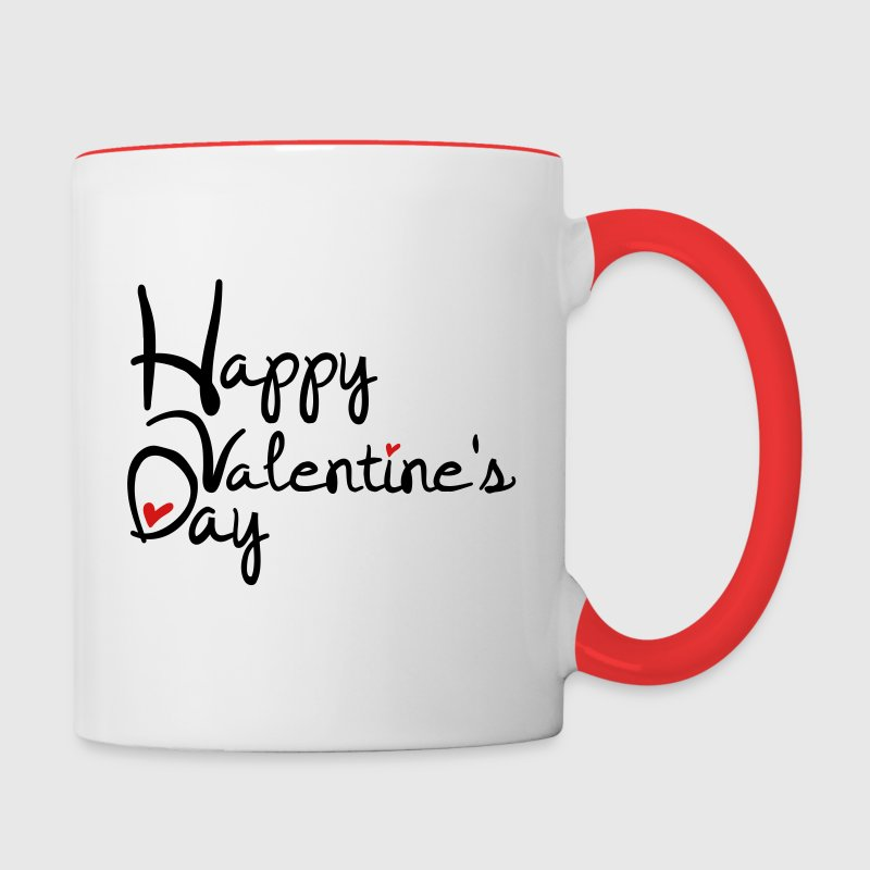 happy valentines day contrast coffee mug contrast coffee mug