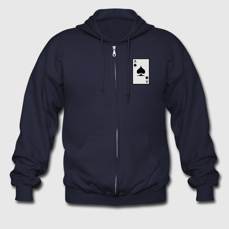 Ace of Spades Zip Hoodies & Jackets - Men's Zip Hoodie