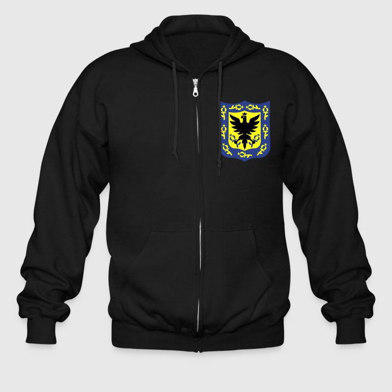 Seal of Bogota, Colombia. Zip Hoodies & Jackets - Men's Zip Hoodie