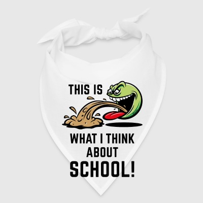 This Is What I Think About School! (PNG) Mugs & Drinkware - Bandana
