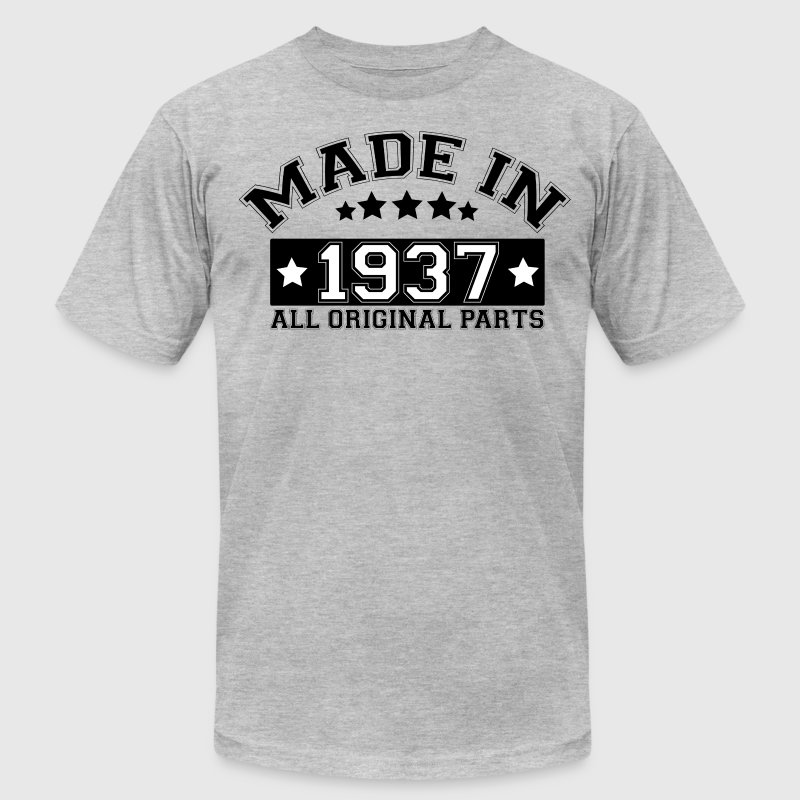 MADE IN 1937 ALL ORIGINAL PARTS T-Shirts - Men's Fine Jersey T-Shirt