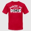 MADE IN 1942 ALL ORIGINAL PARTS T-Shirts - Men's T-Shirt by American Apparel