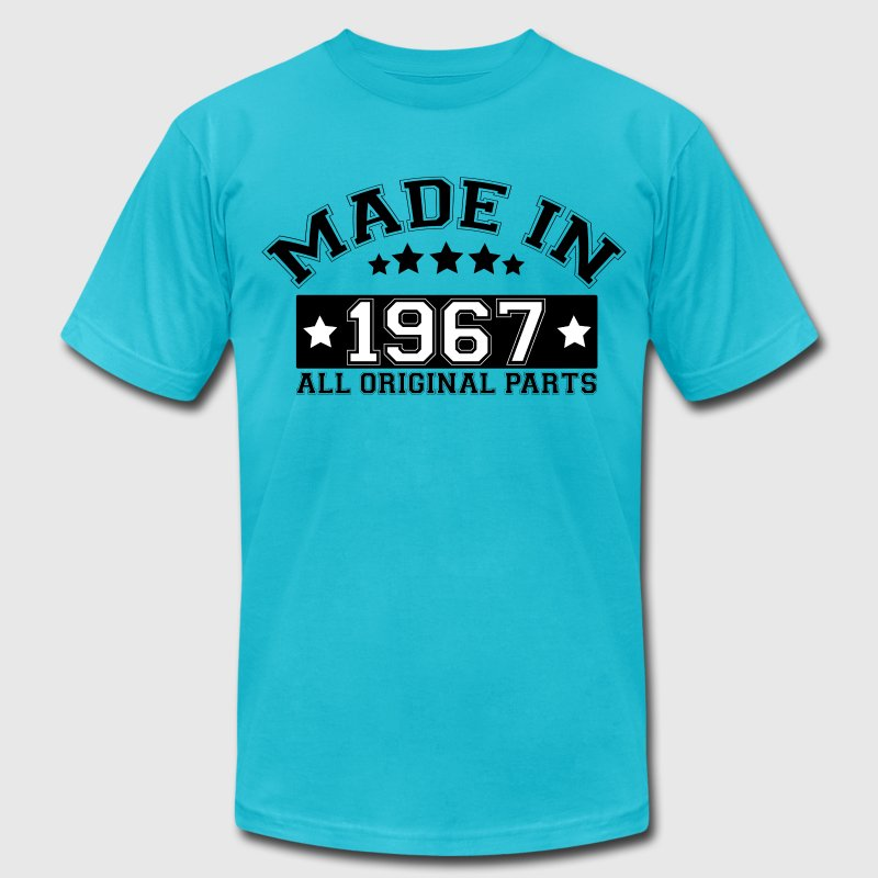 MADE IN 1967 ALL ORIGINAL PARTS T-Shirts - Men's Fine Jersey T-Shirt