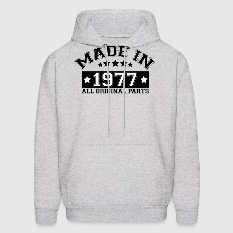 MADE IN 1977 ALL ORIGINAL PARTS Hoodies - Men's Hoodie
