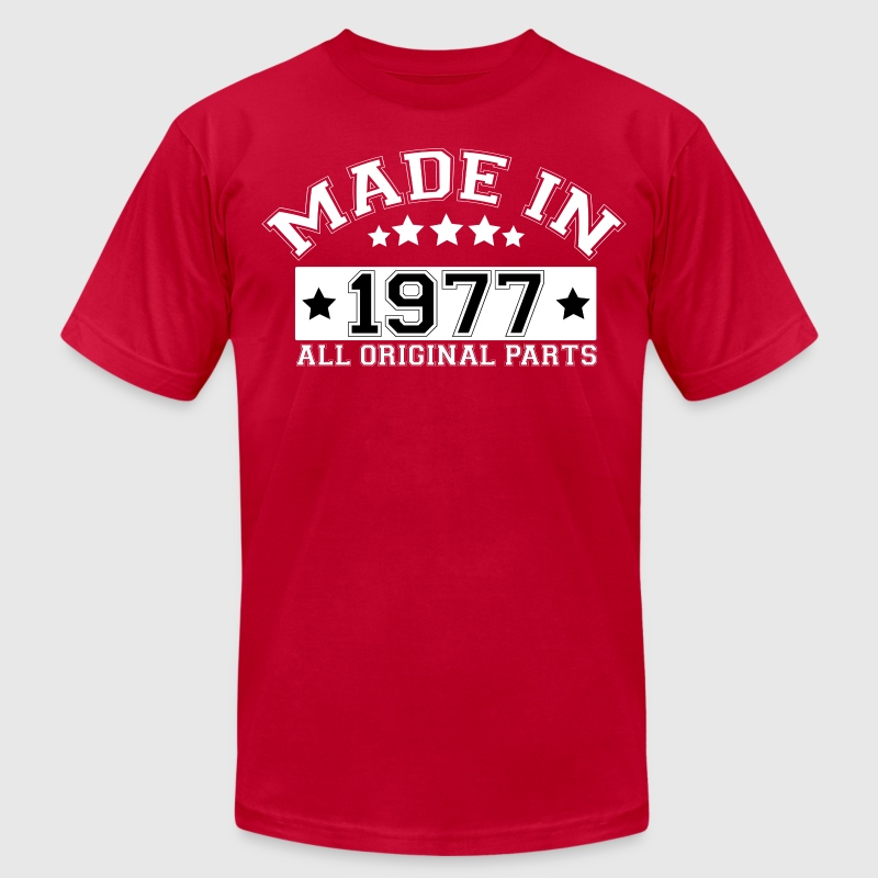 MADE IN 1977 ALL ORIGINAL PARTS T-Shirts - Men's Fine Jersey T-Shirt