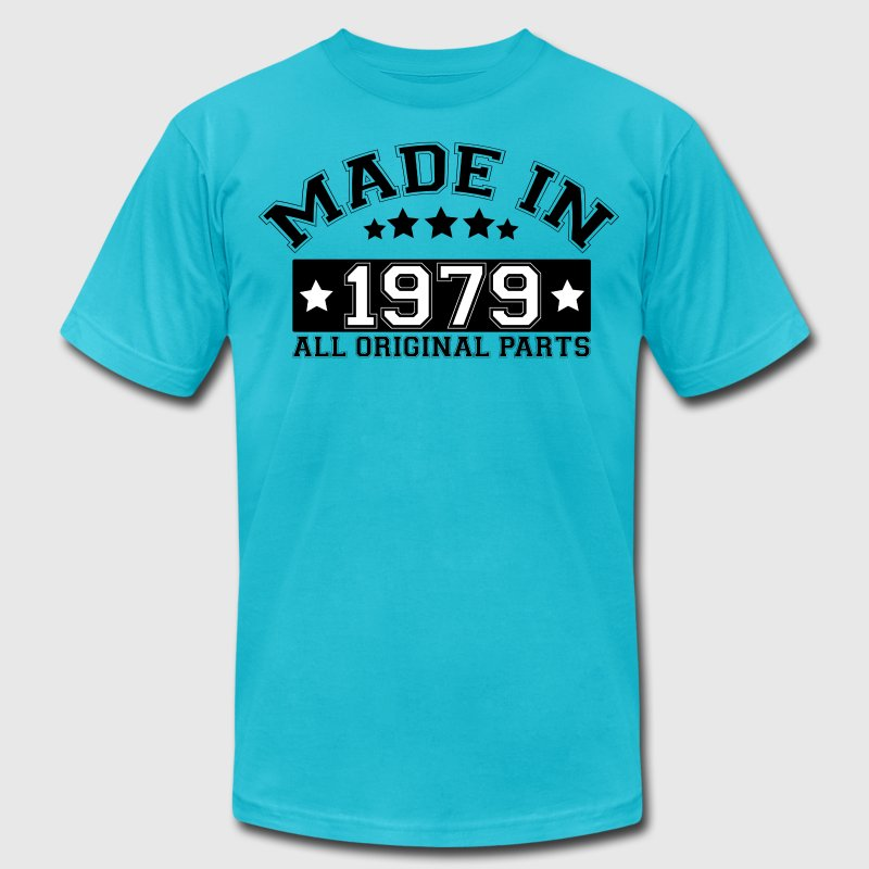 MADE IN 1979 ALL ORIGINAL PARTS T-Shirts - Men's T-Shirt by American Apparel