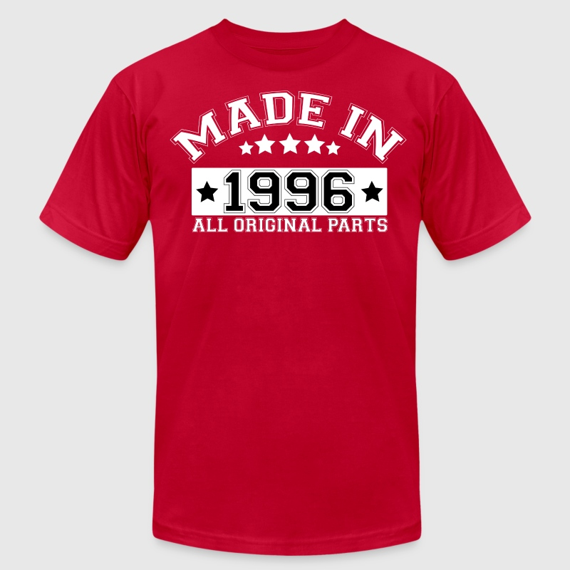 MADE IN 1996 ALL ORIGINAL PARTS T-Shirts - Men's T-Shirt by American Apparel