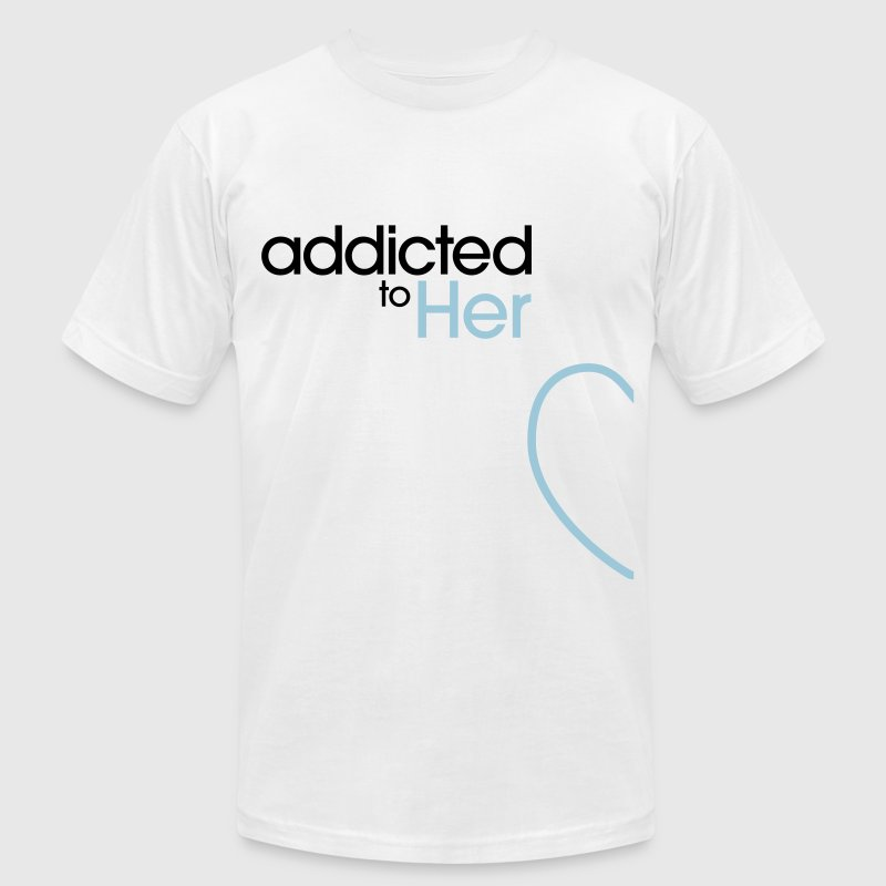 Addicted To Her T-Shirts - Men's T-Shirt by American Apparel