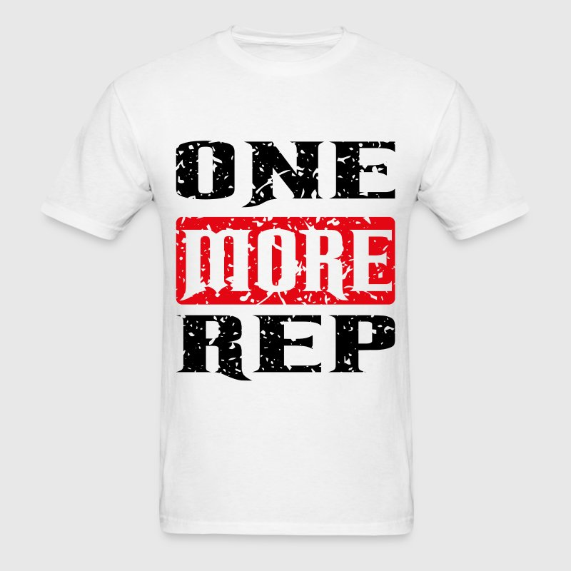 one more rep black red T-Shirts - Men's T-Shirt