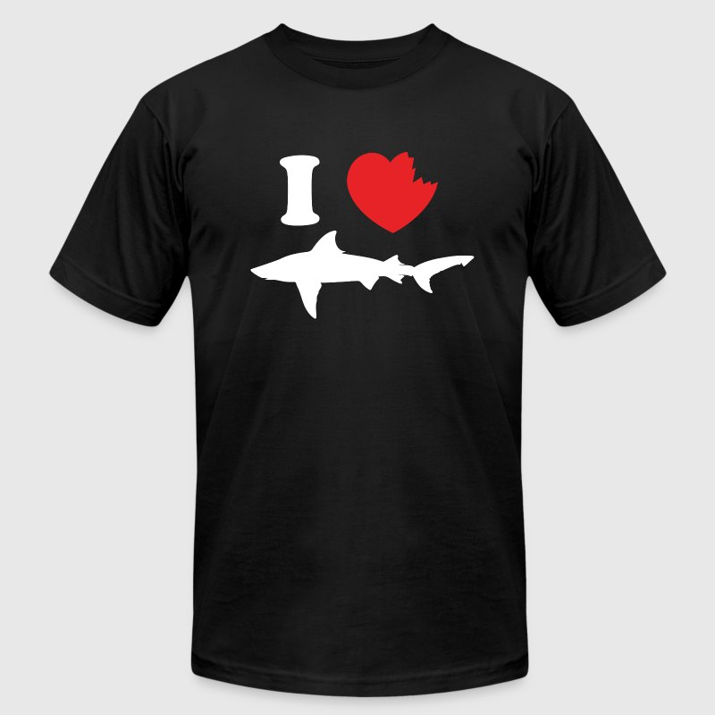 I Love Sharks - Men's Fine Jersey T-Shirt