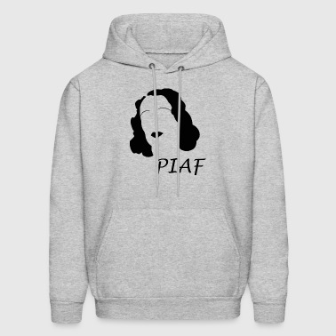 Edith Piaf silhouette and hirsute Womens Top - Men's Hoodie