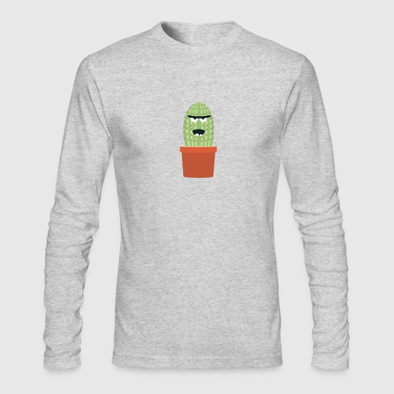 Angry cactus Long Sleeve Shirts - Men's Long Sleeve T-Shirt by Next Level