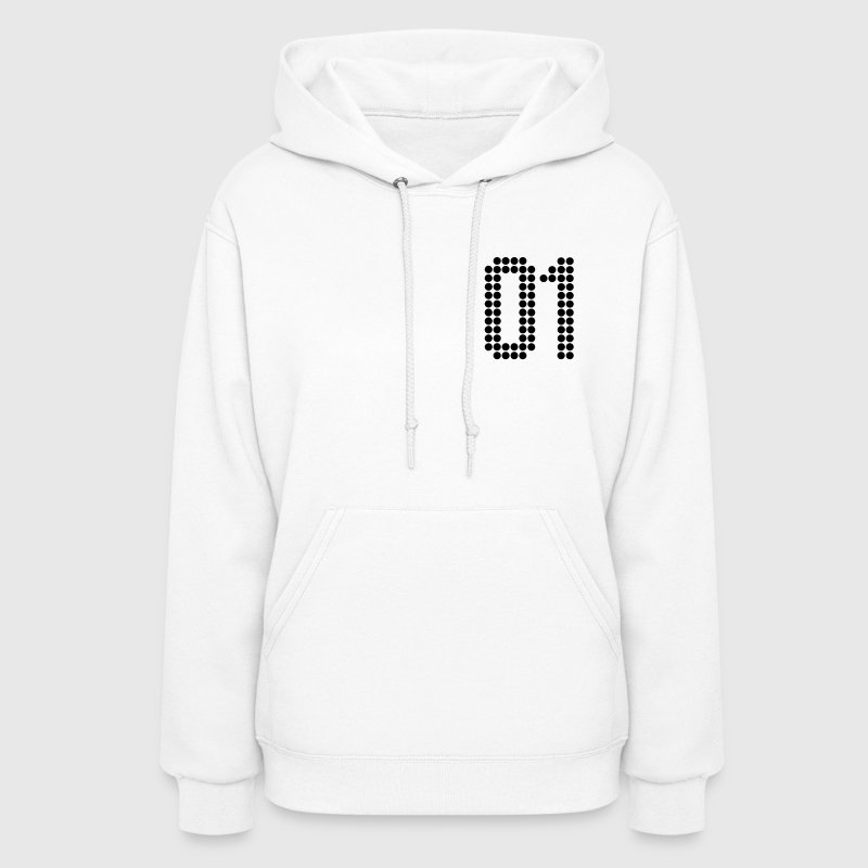 01, Numbers, Football Numbers, Jersey Numbers Hoodies - Women's Hoodie