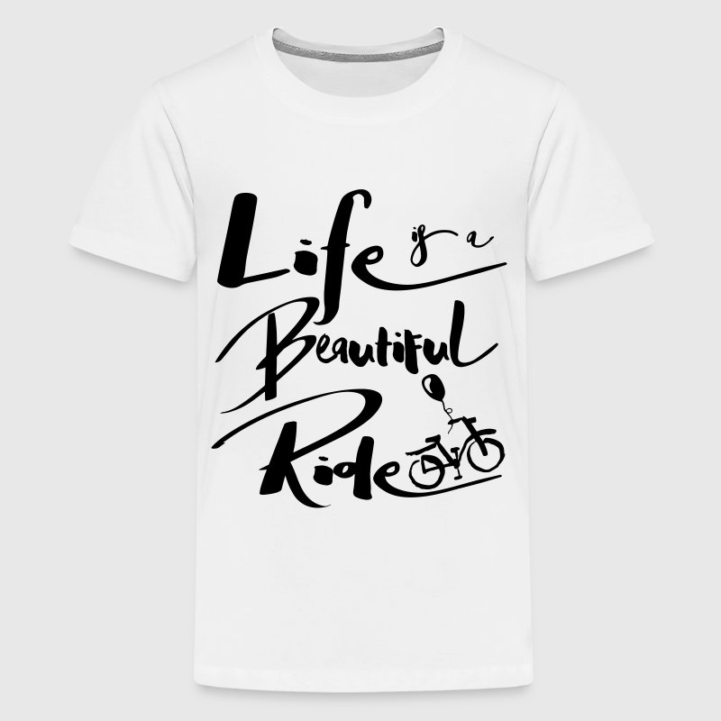 Life is a beautiful ride bicycle Kids' Shirts - Kids' Premium T-Shirt