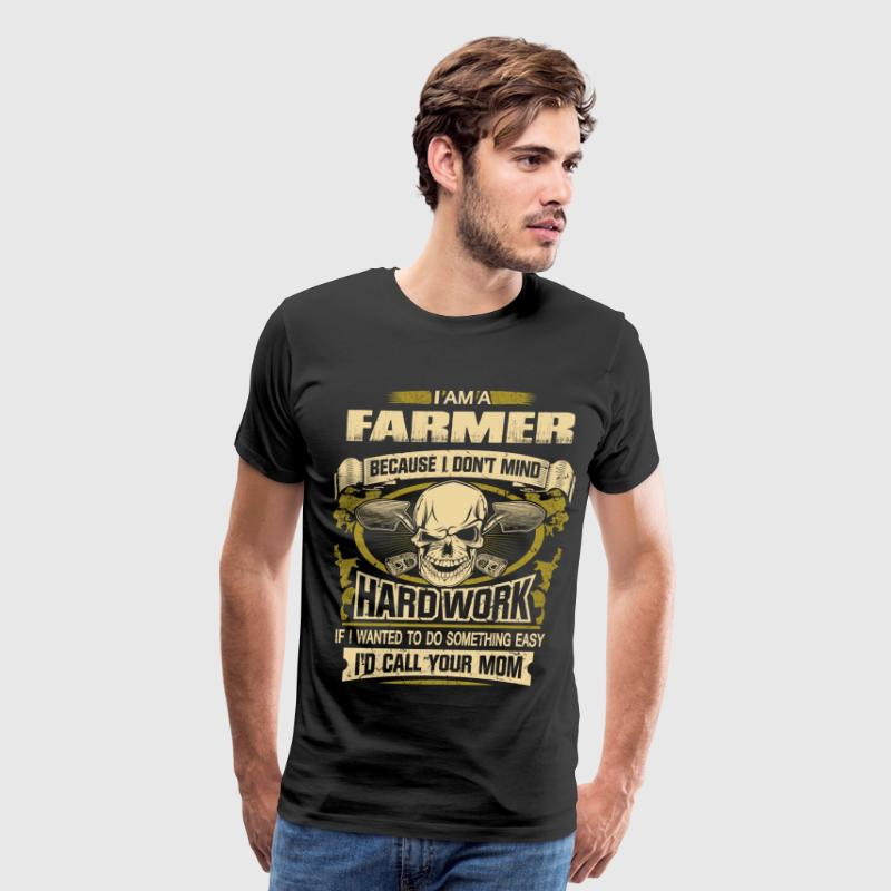 farmer hard work 01 - Men's Premium T-Shirt