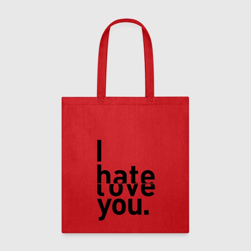 I hate love you couple relationship Bags & backpacks - Tote Bag