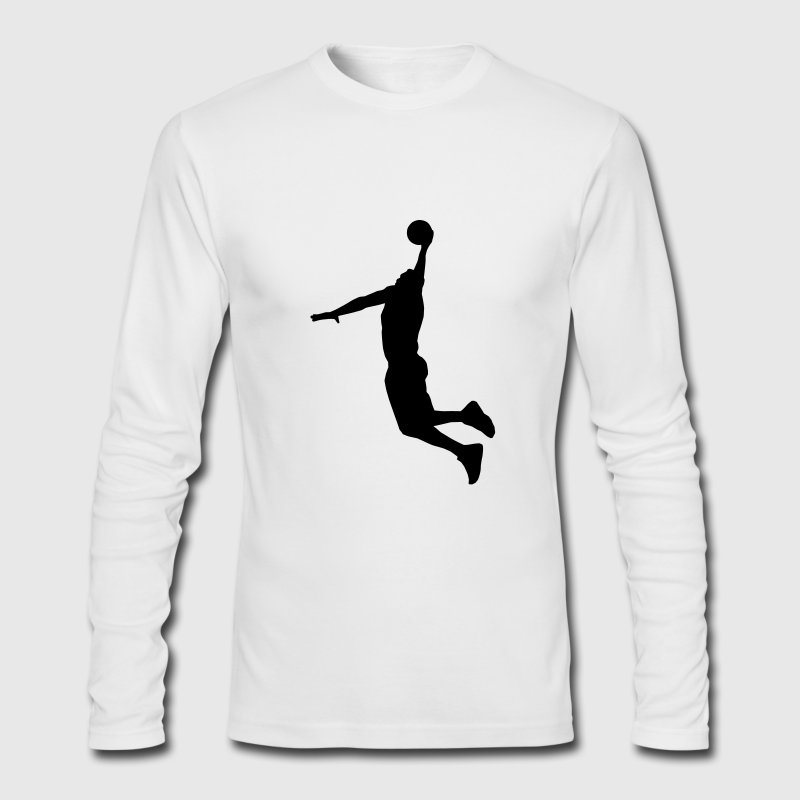 Basketball Player Long Sleeve Shirts - Men's Long Sleeve T-Shirt by Next Level
