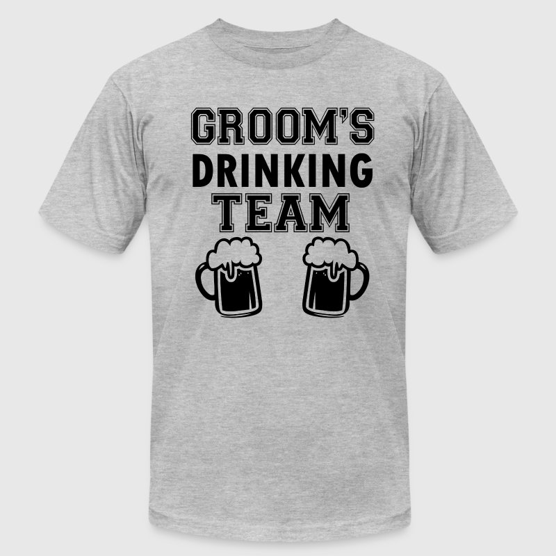 Groom's Drinking Team funny groomsmen - Men's T-Shirt by American Apparel