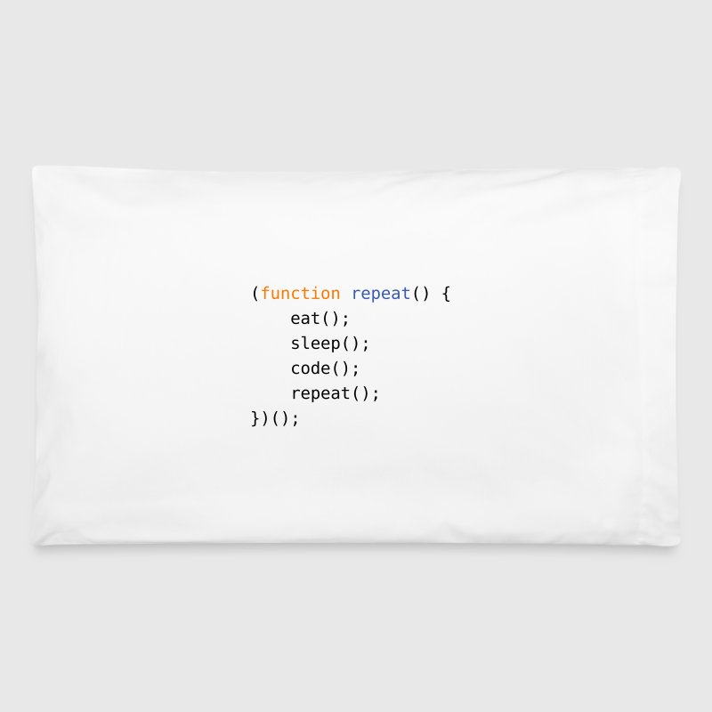 Eat, Sleep, Code, Repeat - Pillowcase