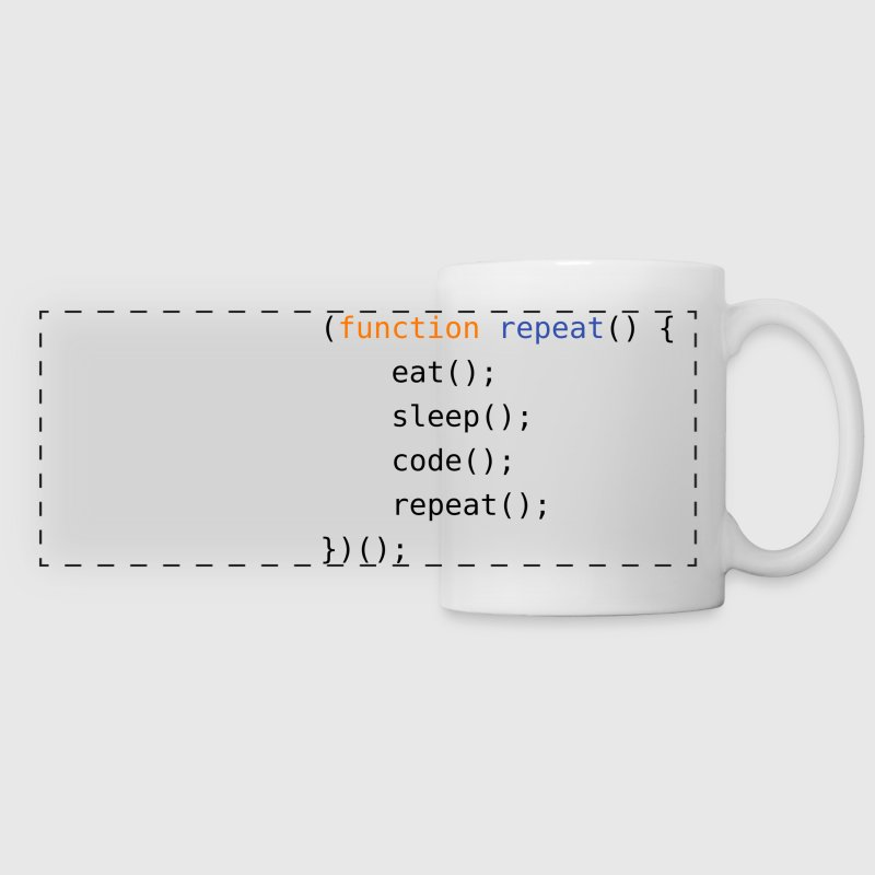 Eat, Sleep, Code, Repeat - Panoramic Mug
