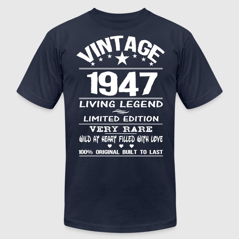 VINTAGE 1947 T-Shirts - Men's T-Shirt by American Apparel